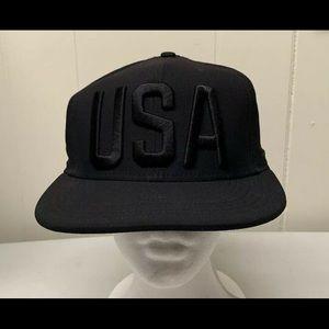 Nike Olympic Team USA Hat Snapback Triple Black.